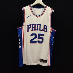 2019 Philadelphia 76ers Ben Simmons 25 Adult Fan Edition NBA Basketball Jersey