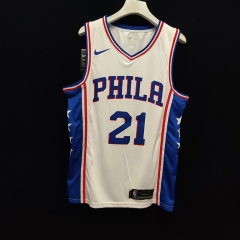 2019 Philadelphia 76ers Joel Embiid 21 Adult Fan Edition NBA Basketball Jersey