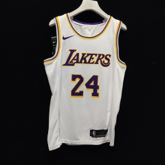 2019 Los Angeles Lakers Kobe Bryant 24 Adult Fan Edition NBA Basketball Jersey