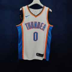 2019 Oklahoma City Thunder Russell Westbrook 0 Adult Fan Edition NBA Basketball Jersey