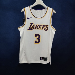 2019 Los Angeles Lakers Anthony Davis 3 Adult Fan Edition NBA Basketball Jersey
