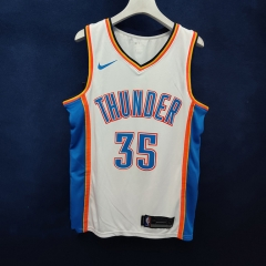 2019 Oklahoma City Thunder Kevin Durant 35 Adult Fan Edition NBA Basketball Jersey