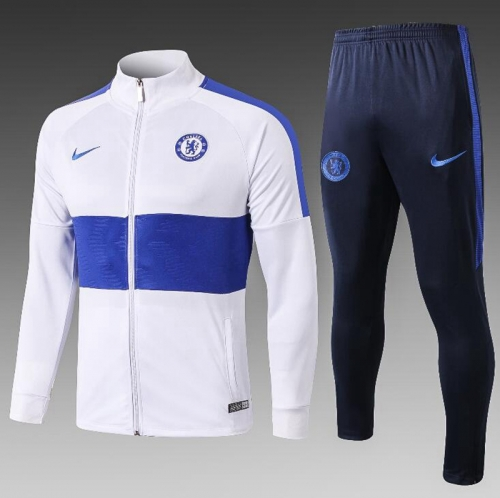 19 20 Chelsea white jacket training suit suit jacket football shirt
