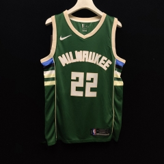 2019 Milwaukee Bucks Khris Middleton22 Adult Fan Edition NBA Basketball Jersey