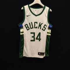 2019 Milwaukee Bucks Giannis Antetokounmpo 34 Adult Fan Edition NBA Basketball Jersey