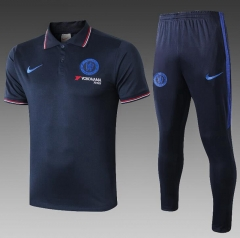 19 20 Chelsea Royal Blue polo training suit football suit