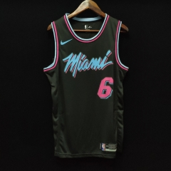 2019 Miami Heat LeBron James 6 Adult Fan Edition NBA Basketball Jersey