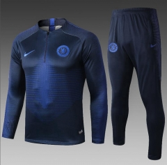 19 20 Chelsea Royal Blue Turtleneck Training Suit Jacket Football Jacket