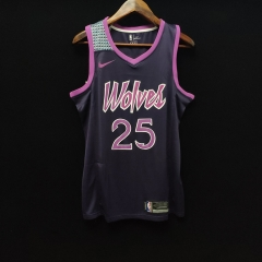 2019 Minnesota Timberwolves Derrick Rose 25 Adult Fans version NBA basketball jersey