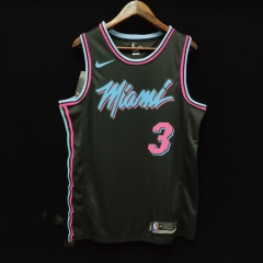 2019 Miami Heat Dwyane Wade 3 Adult Fans version NBA basketball jersey