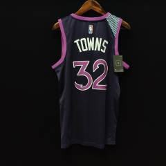 2019 Minnesota Timberwolves Karl-Anthony Towns 32 Adult Fan Edition NBA Basketball Jersey