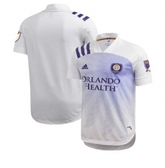 Men's Orlando City Away SC  White 2020 Heart and Sol Authentic Jersey