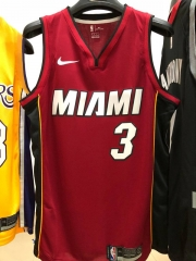 2019 Miami Heat Dwyane Tyrone Wade 3 Adult Fan Edition NBA Basketball Jersey