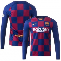 2019 2020 Barcelona Home Long sleeve soccer Jersey   (You can customize name and number +  patch