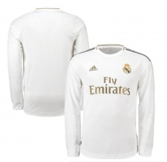 2019 2020 Real Madrid home Long sleeve Sports FIFA men's football jersey   (You can customize name and number +  patch )