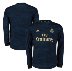 2019 2020 Real Madrid away Long Sleeve Sports FIFA Men's Football Jersey  (You can customize name and number +  patch )
