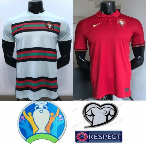 2020 Portuga home away soccer jersey men's jersey (customizable name number + patch)