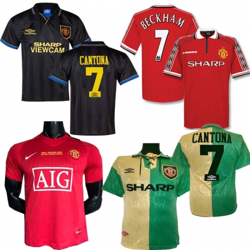 Top Man 2006 2007 2008 90 92 Manchester United Retro UCL final match utd home Manchester United  Jersey 1993 1994 1998 2010 2011 2013 United RONALDO s