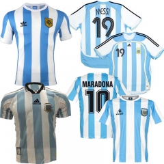 Retro Version 1986 Argentina home Soccer jersey Messi Maradona CANIGGIA 1978 Quality Football Shirt Batistuta 1998