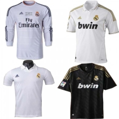 Retro 2011 12 Real Madrid Home Soccer Football Jersey Sergio Ramos Alonso 2014 15 RONALDO ZIDANE Beckham RAUL Robinho Long sleeve 2002