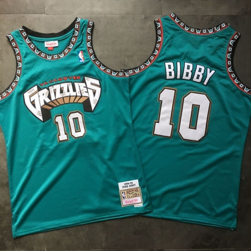 Memphis Grizzlies Grizzlies 10 # Bibe 98 Retro Edition Sewing Jersey