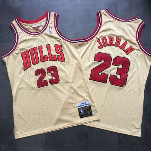 Chicago Bulls No. 23 Jordan Vintage Edition Mesh Embroidered Jersey