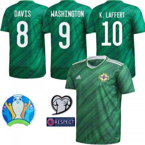 2020 Northern Ireland Home Shirt Euro Soccer Jersey   (Can customize name number + patch)