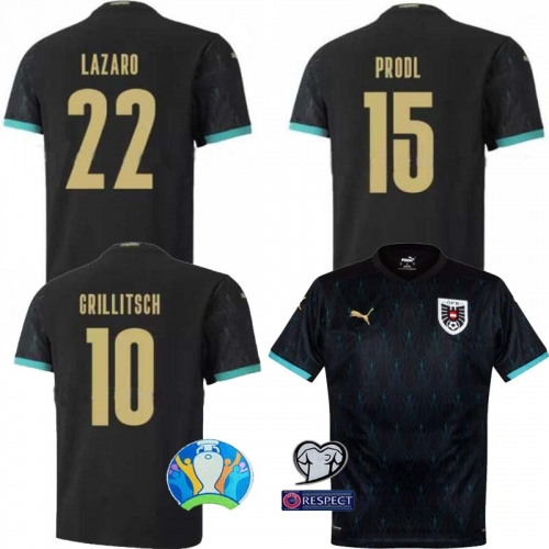 2020 2021 Austria Away Shirt  European Cup football jersey   (Can customize name number + patch)