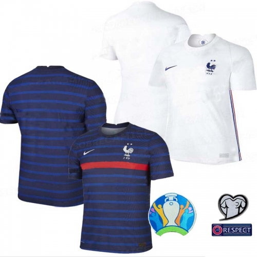 2020 France  home away soccer jersey GRIEZMANN MBAPPE  KANTE POGBA  ZIDANE European Cup jersey   (You can customize the name number + patch)