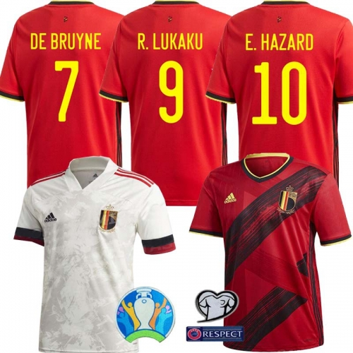 2020 Belgium  Home away Shirt Euro Soccer Jersey Men's Women  (Can customize name number + patch)