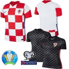 2020 EURO CROATIA HOME away football JERSEY BY men's jersey (customizable name number+ patch)