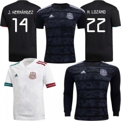 2020 Mexico HOME away football JERSEY BY long sleeve men's jersey (customizable name number )