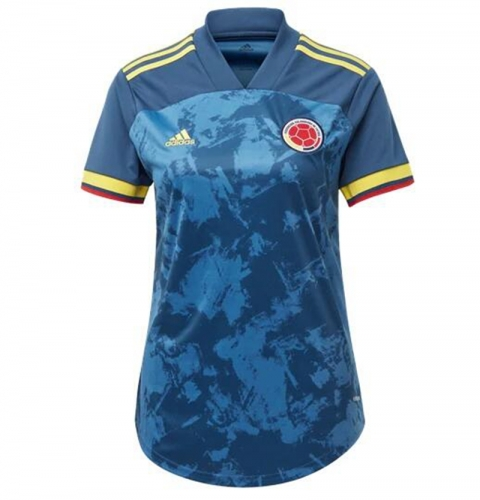 2020 Colombia AWAY football JERSEY BY woman jersey (customizable name number )