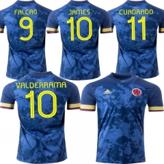 2020 Colombia AWAY football JERSEY BY men's jersey (customizable name number + patch)