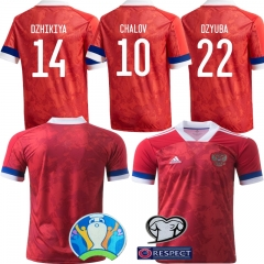 2020 EURO RUSSIA HOME football JERSEY BY men's jersey (customizable name number + patch)
