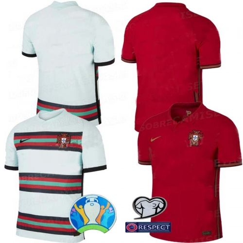 2020 Euro Portugal HOME away football JERSEY BY men's jersey (customizable name number + patch)