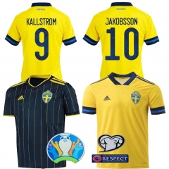 2020 Euro Sweden home away jersey mens football jersey (customizable name number + patch)