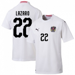 18-19 Austria Away Shirt + L azaro 22 (Fan Style)
