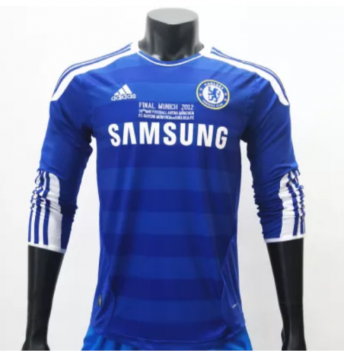 Chelsea 2011/2012 LS Long Sleeve Retro Football Jersey(customizable number name)
