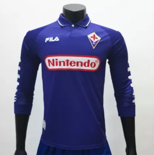 Fiorentina 1998/1999 Home LS Retro Jerseys (customizable number name)