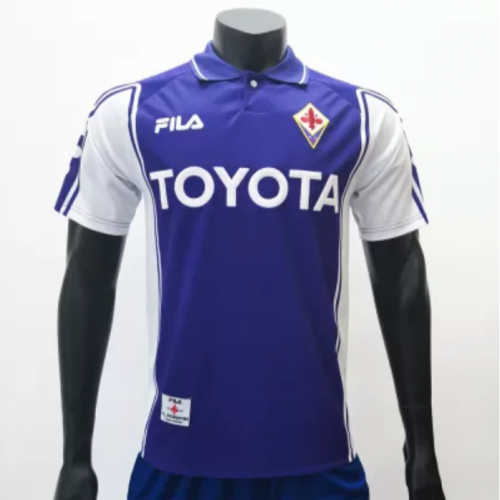 Fiorentina 19992000 Home retro Soccer Jerseys (customizable number name)