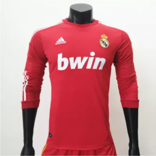 Real Madrid 2011/2012 LSc Long Sleeve Retro Jersey(customizable number name)