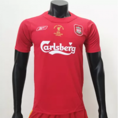 Liverpool 2005 Champions League Final Home Retro Jerseys (customizable number name)