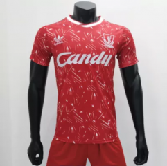 Liverpool 1989/1991 Home  Retro Soccer Jerseys (customizable number name)