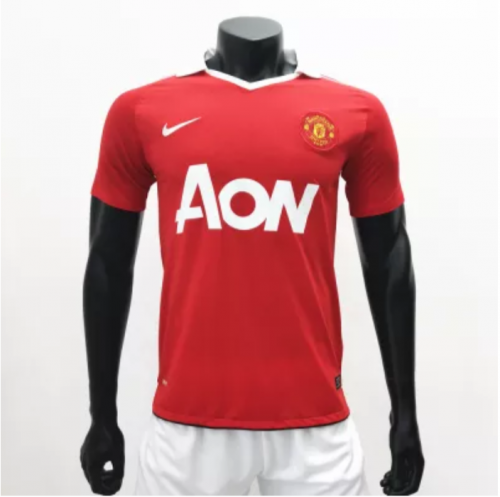 Manchester United 2010/2011 Home Retro Soccer Jerseys(customizable number name)