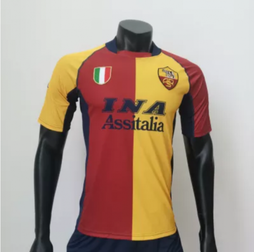 Roma 2001/2002 Home Retro Soccer Jerseys (customizable number name)