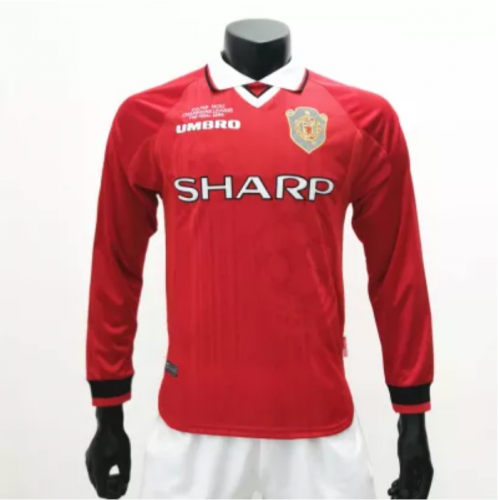 Manchester United 1999/2000 Home LS Retro Soccer Jerseys(customizable number name)