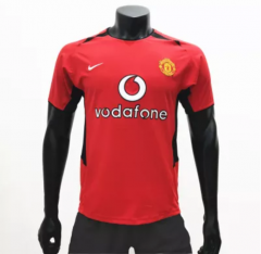 Manchester United 2002/2003 Home Retro Soccer Jerseys(customizable number name)