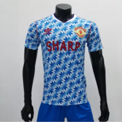 Manchester United 1990/1992 Away Retro Soccer Jerseys(customizable number name)