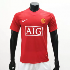 Manchester United 2007/2009 Home Retro Soccer Jerseys(customizable number name)